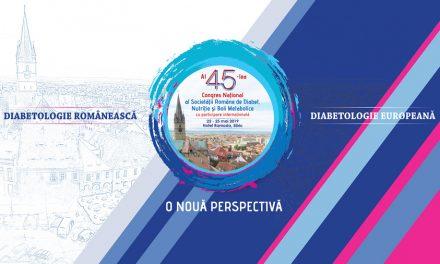 Congresul Național al Societății Române de Diabet, Nutriție și Boli Metabolice: Sibiu, 22 – 25 mai 2019