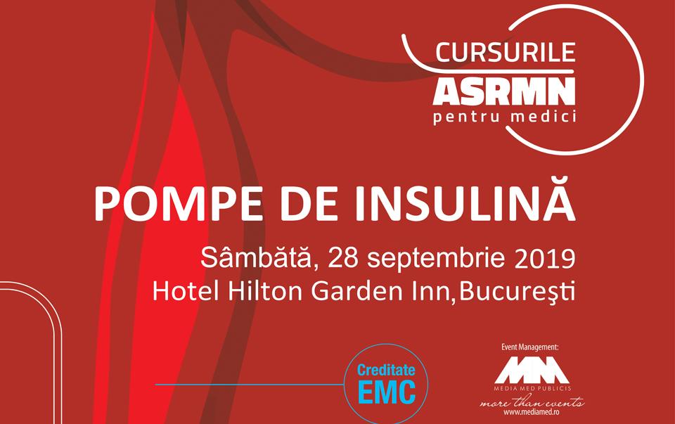 Cursul de pompe de insulină şi Cursul de pompe de insulină augmentate cu senzori: 28 septembrie, Hotel Hilton Garden Inn