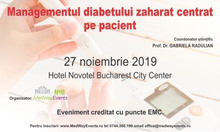 """6 puncte EMC la ediția inaugurală a conferinței """"Managementul diabetului zaharat centrat pe pacient"""""""