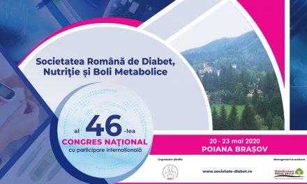 Congresul Național al Societății Române de Diabet, Nutriție și Boli Metabolice: Pioana Brașov, 20 – 23 mai 2020