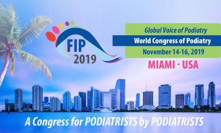 Federația Internațională a Podiatrilor (FIP-IFP) anunță deschiderea înscrierilor pentru Congresul Mondial al Podiatriei, în perioada 14-16 noiembrie, la Miami