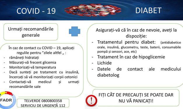 FADR: Persoanele cu diabet trebuie să își ia toate măsurile de precauție împotriva noului coronavirus!