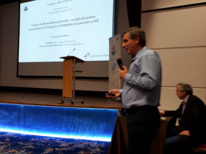 Dr. Ing. Daniel Petcu, prezentare despre biomecanica piciorului