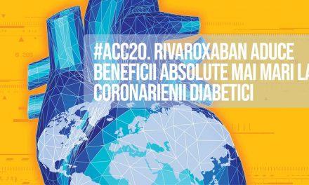 Printre pacienții cu ateroscleroză coronariană sau sistemică, rivaroxaban aduce cele mai mari beneficii la cei care suferă și de diabet