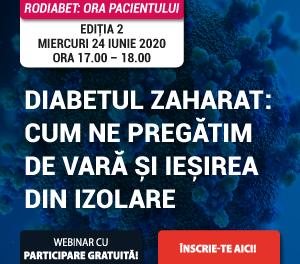 """Cum ne pregătim de vară și ieșirea din izolare? Webinar RoDiabet """"Ora Pacientului"""" – 24 iunie, ora 17.00"""