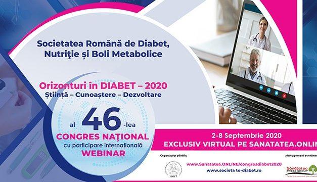 Congresul Național al Societății Române de Diabet, Nutriție și Boli Metabolice, în format exclusiv online