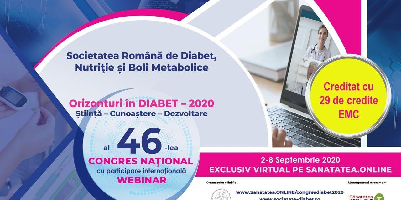 Participare numeroasă la Congresul Național al Societății Române de Diabet, Nutriție și Boli Metabolice 2020