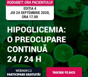 Hipoglicemia – punctul de vedere al pacientului și medicului specialist, la cea de-a patra ediție a Orei Pacientului RoDiabet