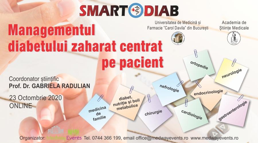 """A doua ediție a Conferinței Medicale """"Managementul diabetului zaharat centrat pe pacient"""" va vea loc online pe 23 octombrie"""