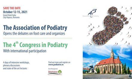 Congresul Național de Podiatrie, ediția 4, va avea loc pe 12-15 octombrie 2021