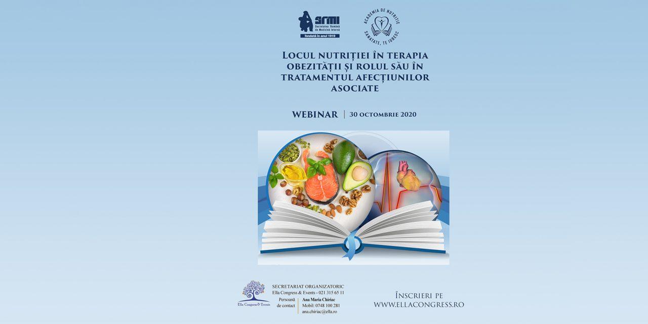 """Simpozion """"Locul nutriției în terapia obezității și rolul său în tratamentul afecțiunilor asociate"""""""