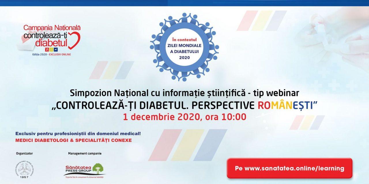 """Simpozionul științific """"Controlează-ți Diabetul. Perspective Românești"""""""