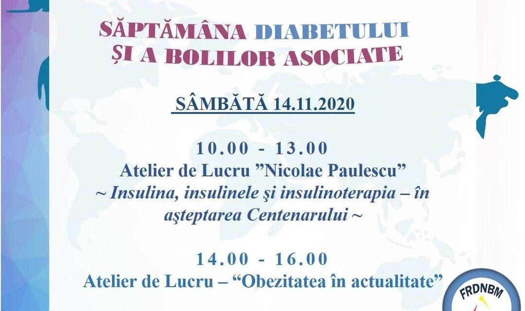 """Federația Română de Diabet, Nutriție, Boli metabolice marchează """"Săptămâna Diabetului și a Bolilor asociate"""""""