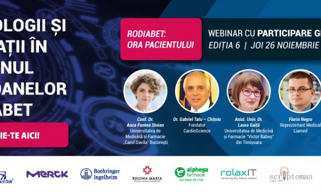Tehnologii și aplicații în sprijinul persoanelor cu diabet: tema întâlnirii RoDiabet Ora Pacientului de joi, 26 noiembrie 2020