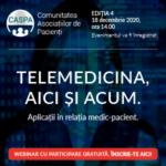 """Totul despre """"Telemedicină: AICI și ACUM"""" la webinarul CASPA.RO din 18 decembrie 2020, ora 14.00"""