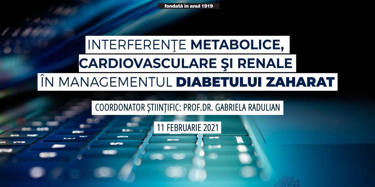 WEBINAR Interferenţe metabolice, cardiovasculare şi renale în managementul diabetului zaharat