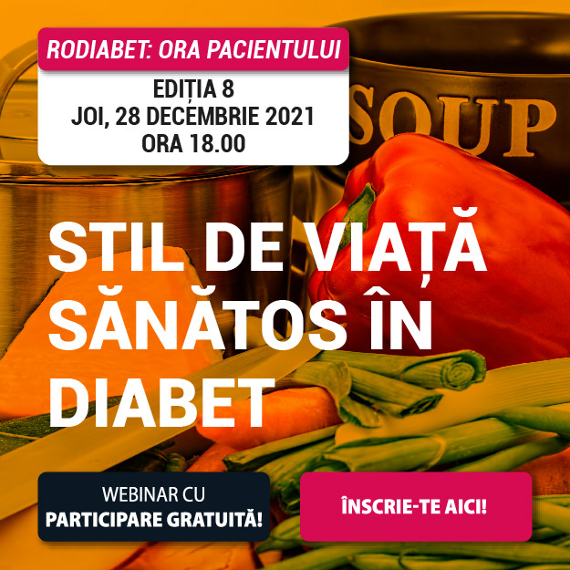 """Află care e """"Stilul de viață sănătos în Diabet"""" la Ora Pacientului RoDiabet din 28 ianuarie"""