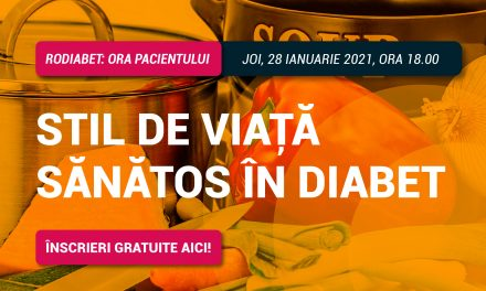 Stil de viață sănătos în diabet: tema întâlnirii Ora Pacientului RoDiabet din 28 ianuarie 2021