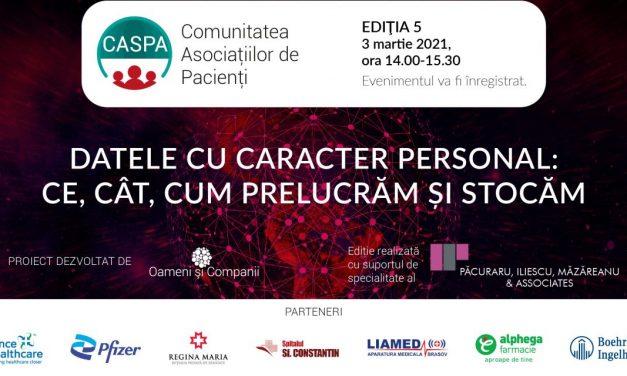 Comunitatea Caspa.ro: Datele personale, subiectul celei de-a cincea întâlniri digitale