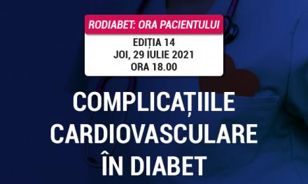 Ora Pacientului RoDiabet: Bolile cardiovasculare sunt o amenințare reală pentru pacientul cu diabet zaharat