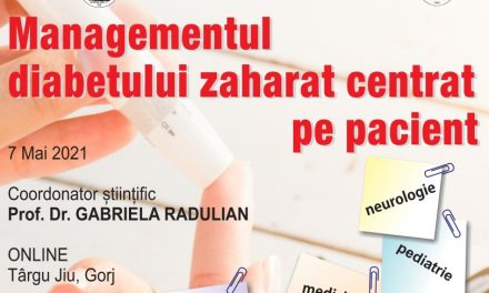 """Conferința medicală """"Managementul Diabetului Zaharat – centrat pe pacient"""" are loc pe 7 mai, online"""