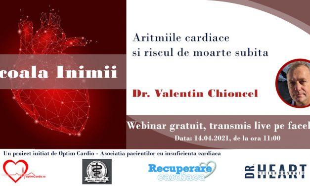 A șasea sesiune Școala Inimii cu Dr. Valentin Chioncel va avea loc miercuri – Aritmiile cardiace și riscul de moarte subită