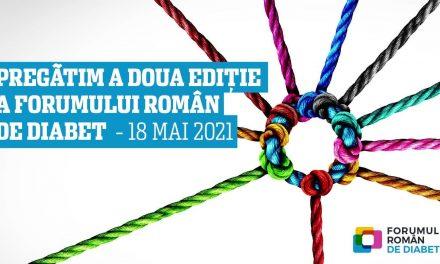 A doua ediție a conferinței Forumul Român de Diabet are loc pe 18 mai