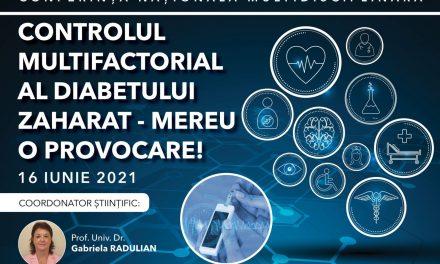 """Conferința Națională Multidisciplinară """"Controlul multifactorial al diabetului zaharat, mereu o provocare"""""""