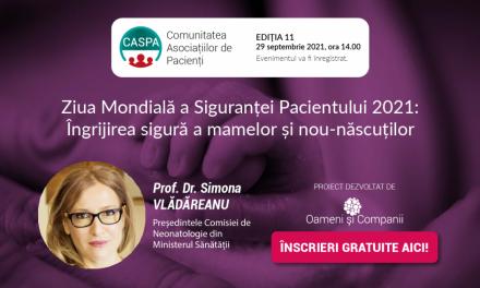 Prof. Dr. Simona Vlădăreanu, Președinta Comisiei de Neonatologie, vine la întâlnirea Comunității CASPA.ro