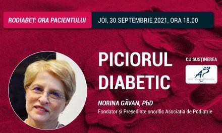 """""""Piciorul Diabetic"""": tema Orei Pacientului RoDiabet din 30 septembrie"""