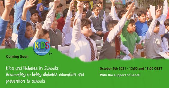 Webinar organizat de IDF privind educația și prevenirea diabetului în școli