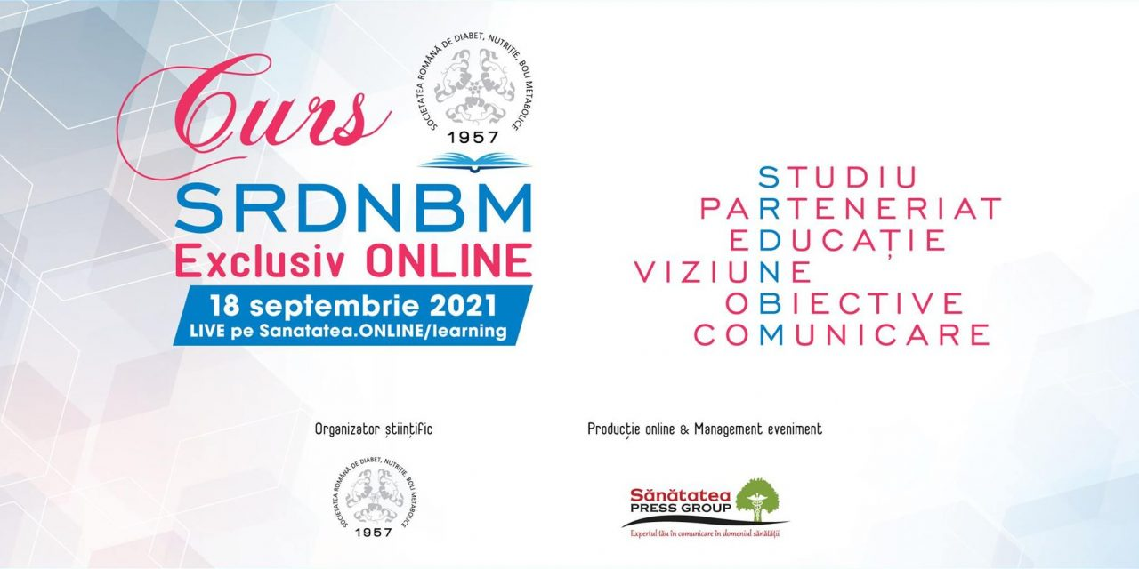 Sunt deschise înscrierile pentru primul curs din seria cursurilor de toamnă organizate de Societatea Română de Diabet, Nutriție și Boli Metabolice (SRDNBM)