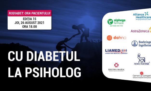Provocările psihologice ale diabetului zaharat: tema întâlnirii RoDiabet Ora Pacientului din luna august